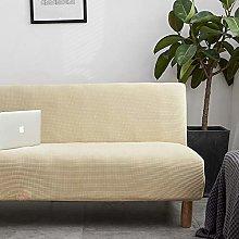 Armless Sofa Cover Stretch Sofa Bed Slipcover