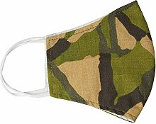 Army Green Camouflage Washable Face Mask Reusable