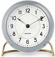 Arne Jacobsen Table Clock, Gray, 11 cm