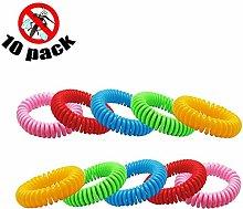 Aromatherapy mosquito repellent bracelet 10 pieces