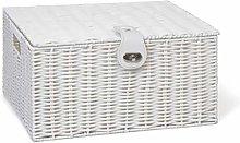 Arpan Large Resin Woven Storage Basket Box with