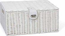 Arpan Medium Resin Woven Storage Basket Box with