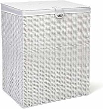Arpan Resin Large Laundry Clothes Basket with Lid,