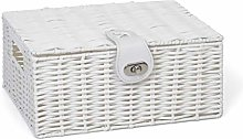 Arpan Small Resin Woven Storage Basket Box with