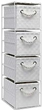 Arpan White 4 Drawer Storage Cabinet Unit Ideal