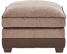 Arran Fabric And Faux Leather Footstool