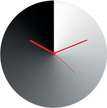 Arris Wall clock - Ø 30 cm by Alessi Red,Chromed