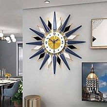 Art 3D Flower Large Wall Clock, Round Metal Wall