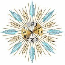 Art 3D Flower Wall Clock Large 70CM 60CM,Round