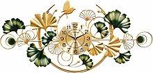 Art 3D Large 100CM Wall Clock, Creative Ginkgo
