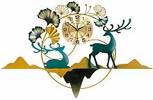 Art 3DWall Clock Large Size 120CM,Creative Ginkgo