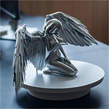 Art Angel Female Woman Wings Kneeling Cloak Hat,