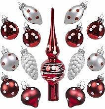 Art Beauty Christmas Baubles Glass Mini Miniature