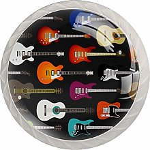 Art Colorful Guitar Musical Instrument Pattern