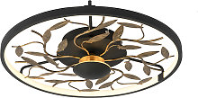 Art Deco ceiling lamp black with gold 3-step