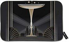 Art Deco Design Doormat Welcome Mat Entrance Mat
