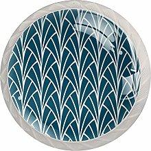 Art Deco Design Glass Knobs Cupboard Pulls Drawer