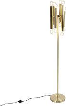 Art Deco Floor Lamp 12 Gold - Facil
