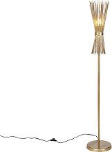 Art Deco floor lamp gold - Broom