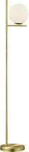 Art Deco floor lamp gold with opal glass - Flore