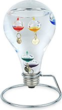 Art Deco Home - Galileo Thermometer lightbulb 15