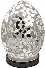 Art Deco Mirrored Flower Mosaic Glass Vintage Egg