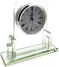 Art Deco Style Square Glass mantle clock