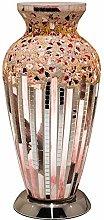 Art Deco Tile Mosaic Glass Vintage Vase Table Lamp