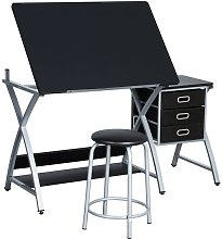 Art/Drawing Desk with Adjustable Height Tiltable