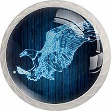 Art Eagle Round Cabinet Knobs 4pcs Knobs for