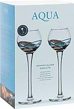 ART ESCUDELLERS Set of 2 GRAPPA glass goblets.