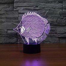 Art Fish 3D Touch Switch 3D Night Light Fish Light