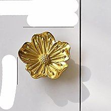 Art Flowers Shape Copper Furniture Cabinet Knobs