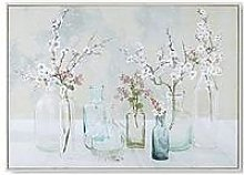 Art For The Home Apple Blossom Bottles Canvas Wall