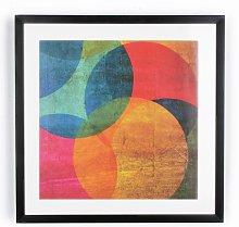 Art for the Home Neon Geometric Circle Print -