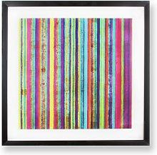 Art for the Home Neon Stripe Framed Print - 50x50cm