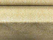 Art Nouveau Morris Linen Ochre Yellow Curtain