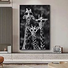 Art print Funny Art Giraffes with Sunglasses