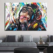 Art Print Graffiti Pop Cute Monkey Canvas
