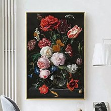 Art print Still Life with Flowers In A Glass Vase