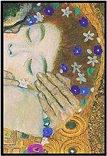 Art Print The Kiss by Gustav Klimt canvas printss