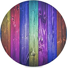 Art Retro Wood Music Piano Placemats Round Dining