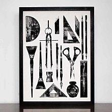 "Art Tools Limited Edition Print 12"" x 16"""
