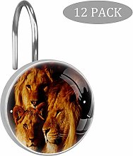 ART VVIES Three Lions Set of 12 Shower Curtain