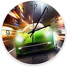 Art Wall Clock for Living Room Decor,Sports Car