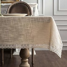 ARTABLE Lace Beige Rectangle Tablecloth with