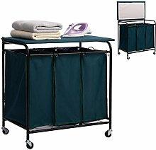 ARTALL Heavy-Duty Laundry Sorter Cart with Ironing