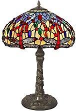 Arte dal Mondo Dragonfly Table lamp Tiffany Style,