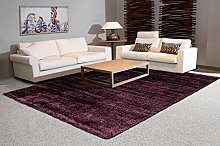 Arte Espina Deep Pile Shaggy Rugs Plain Purple 120