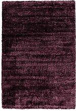 Arte Espina Deep Pile Shaggy Rugs Plain Purple 160